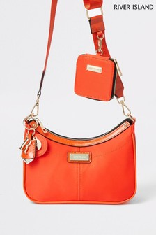 River Island Orange Double Scoop Pouchette