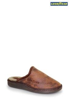 Goodyear Glen Brown Mens Mule Slippers