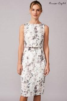 Phase Eight Cream Violetta Double Layered Scuba Dress