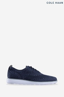 Cole Haan Blue Grand Stitchlite Wing Lace-Up Shoes