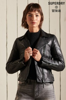 Superdry Classic Leather Biker Jacket