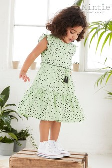 Mint Velvet Lila Green Spot Dress