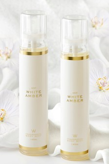 Set of 2 White Amber Body Mists 125ml