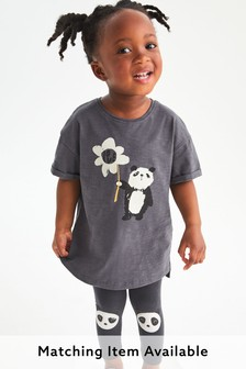 Panda Longline Organic Cotton T-Shirt (3mths-7yrs)