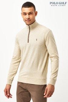 Polo Golf by Ralph Lauren Grey Half Zip Long Sleeve Knit