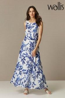Wallis Cream Floral Printed Maxi Dress