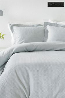 Waffle Duvet Cover and Pillowcase Set by The Linen Yard