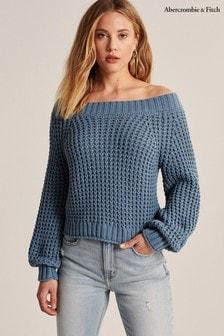 Abercrombie & Fitch Blue Knit Jumper