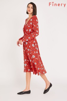 Finery Red Quinn Floral Print Dress
