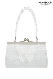 Monsoon Ivory Lacey Butterfly Mini Bag