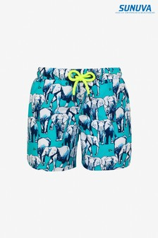 Sunuva Blue Elephant Swim Shorts
