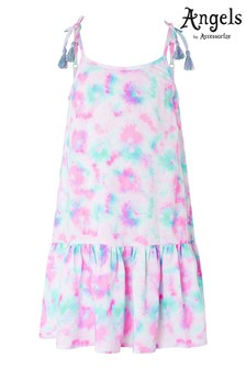 Angels by Accessorize Pink Tie Dye Printed Dress