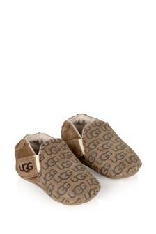 Chestnut Baby Logo Prewalker Roos Booties