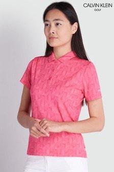 Calvin Klein Golf Pink Avon Polo Top