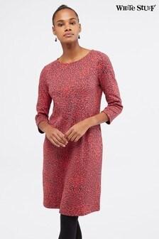 White Stuff Pink Rene Jersey Dress