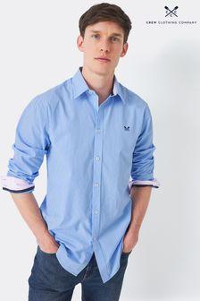 Crew Clothing Company Blue Micro Stripe Shirt