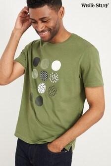 White Stuff Green Kyoto Spot Organic Graphic T-Shirt