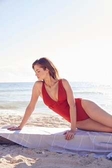 Plunge Belted Swimsuit