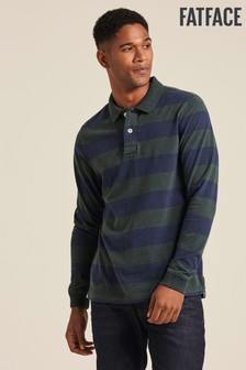 FatFace Green Firsby Stripe Polo