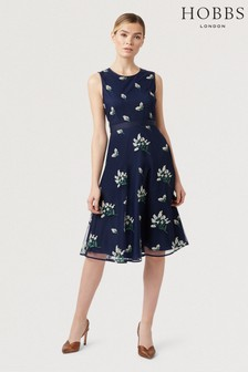 Hobbs Blue Julia Dress