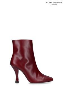 Kurt Geiger London Red Rocco Heeled Ankle Boots