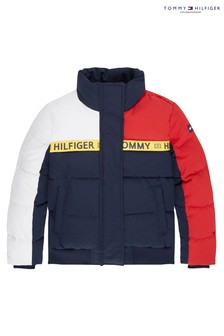 Tommy Hilfiger Blue Sustainable Colourblock Padded Jacket