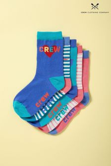 Crew Clothing Red Bamboo Socks Five Pack