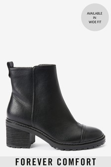 Forever Comfort® Cleat Heel Boots