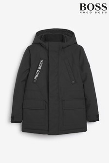 BOSS Black Hooded Parka