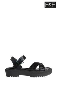 F&F Black Sandals