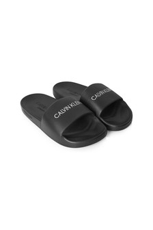 Calvin Klein Underwear Unisex Black Sliders