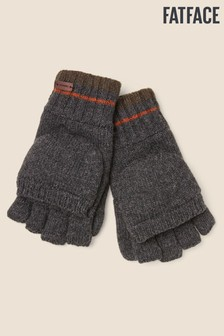 FatFace Grey Flap Over Gloves