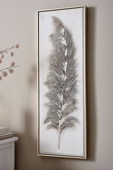 Embellished Feather Canvas