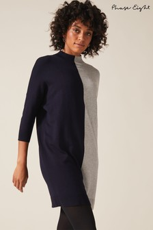 Phase Eight Blue Chloe Colourblock Knitted Tunic