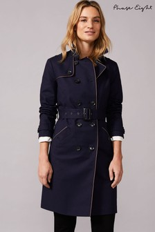 Phase Eight Blue Tali Tipped Trench Coat