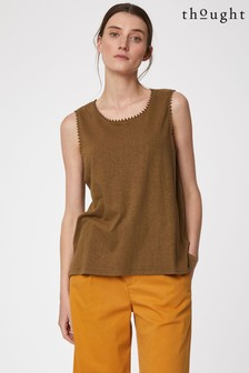 Thought Brown Betta Vest Top
