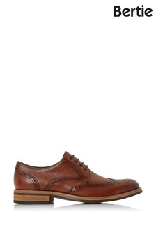Bertie Packman Tan Leather Eyelet Chunky Brogues