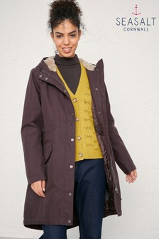Seasalt Brown Plant Hunter Coat