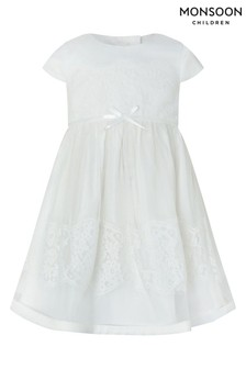 Monsoon Ivory Baby Alovette Christening Gown