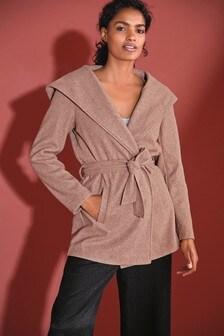 Belted Hooded Coat