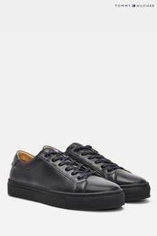 Tommy Hilfiger Blue Premium Leather Trainers