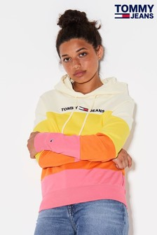 Tommy Jeans Pink Summer Colourblock Hoody