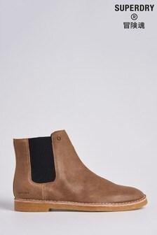 Superdry Brown Desert Boots