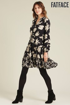 FatFace Black Ariana Silhouette Floral Dress