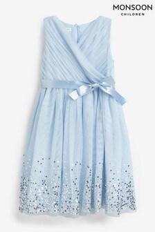 Monsoon Blue Lana Ombre Sequin Dress