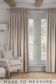Soft Velour Oatmeal Made To Measure Curtains