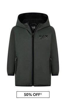 Boys Charcoal Logo Jacket