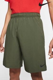 "Nike Khaki Flex Woven 8"" Shorts"