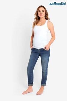 JoJo Maman Bébé Blue Slim Boyfriend Jeans
