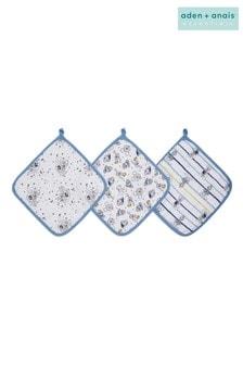 aden + anais Essentials Mickey Stargazer Washcloths Set Three Pack
